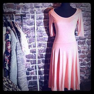 LuLaRoe Nicole Dress Jersey Cotton Peach